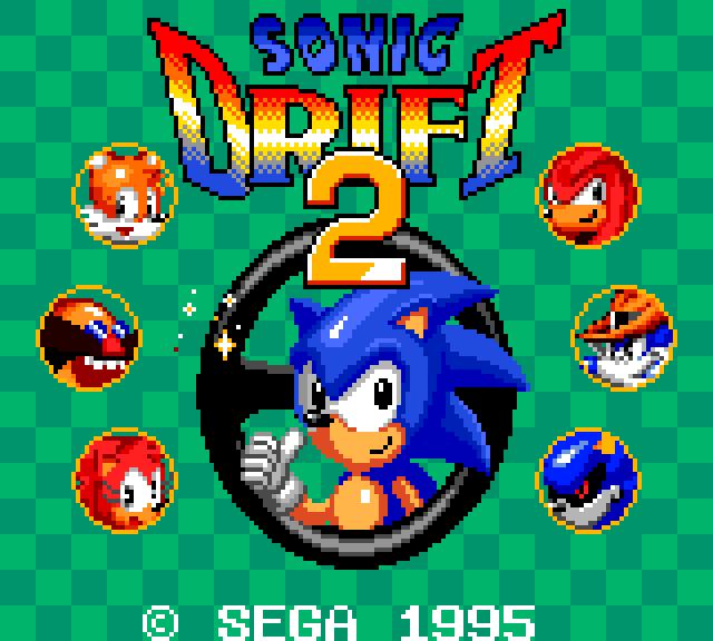 Captain Williams Sonic Drift 2 Sonic Drift Racing Game Gear
