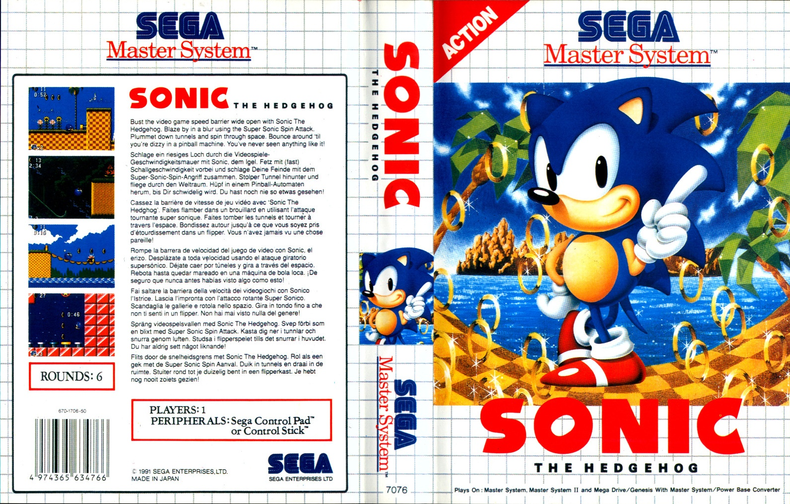 Captain Williams Sonic The Hedgehog Feature Master System Mark Iii And Game Gear